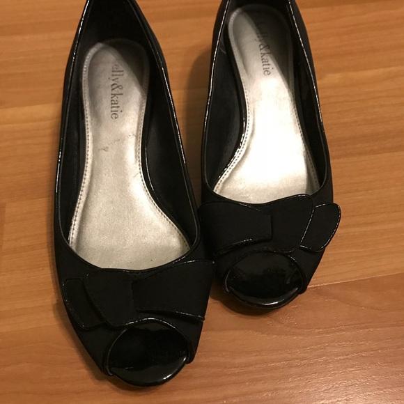 e96fe2af7e2 Kelly   Katie Shoes - Kelly   katie black open toe wedges